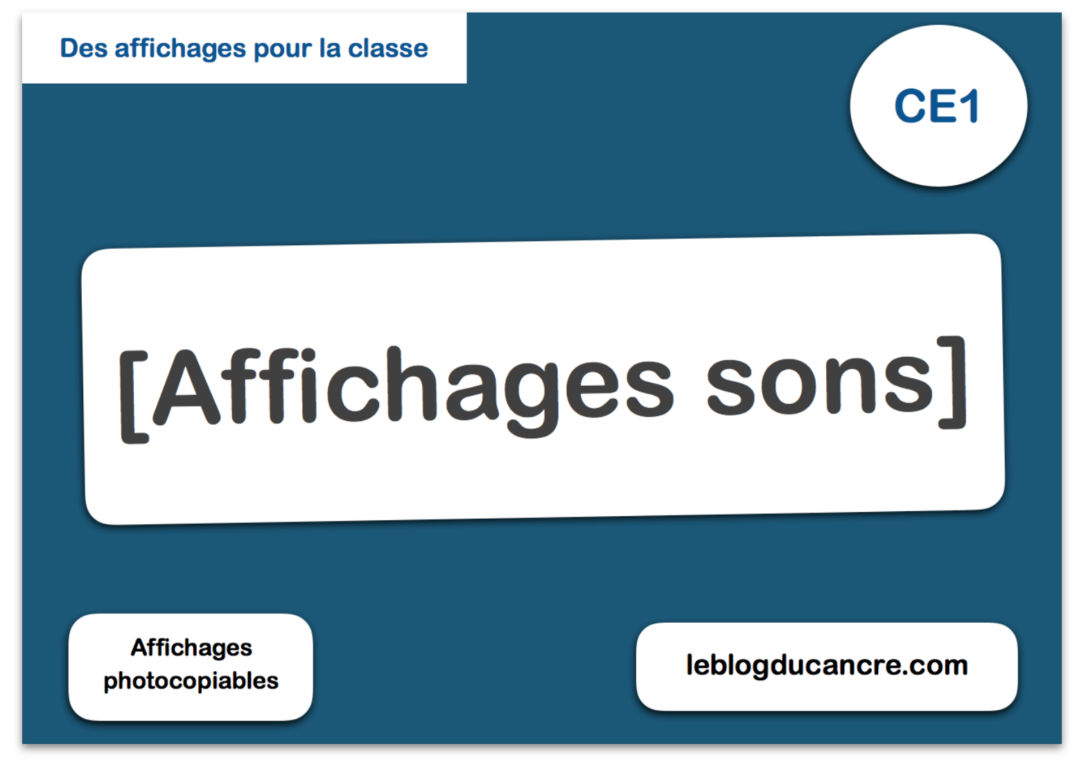Affichages sons