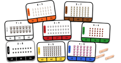 Cartes à choix – Multiplications