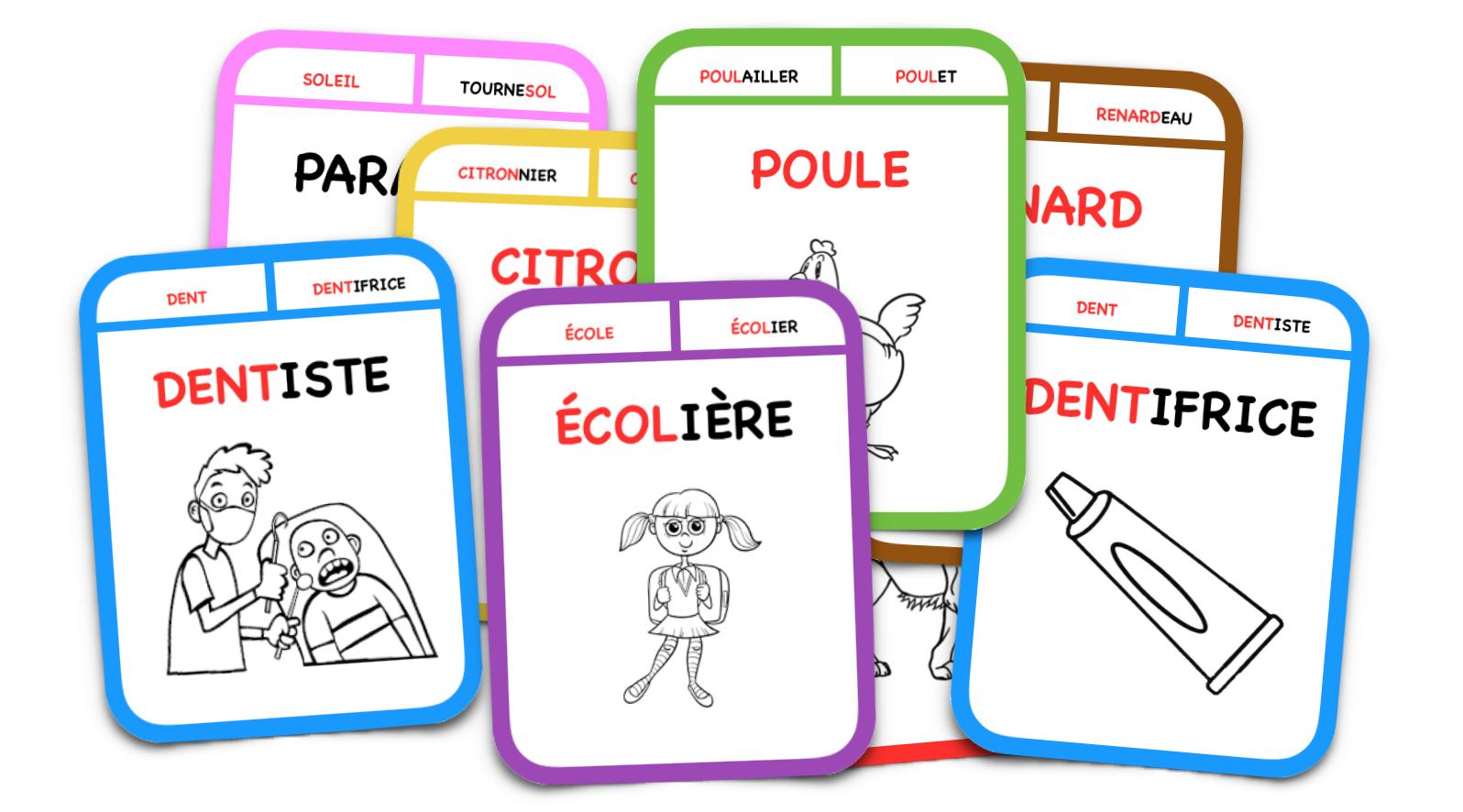Bien connu Le jeu des 7 familles de mots – Le blog du Cancre LU08