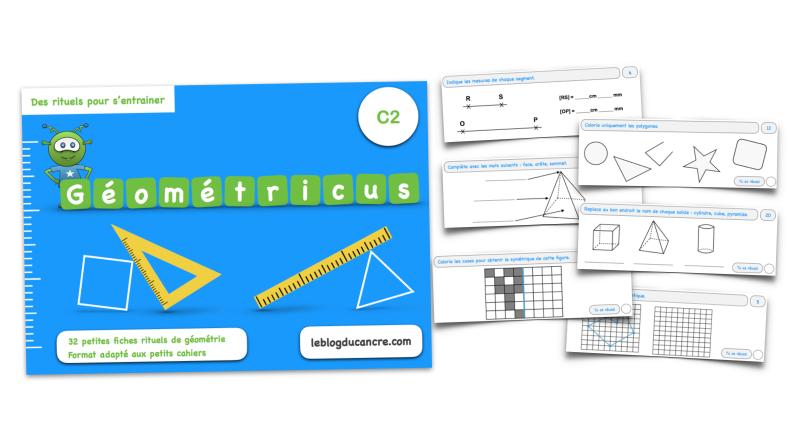 Géométricus – Mini fiches rituels géométrie