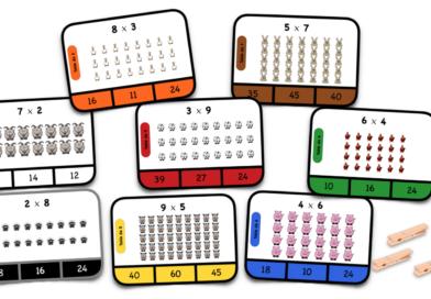 Cartes à choix – Multiplications