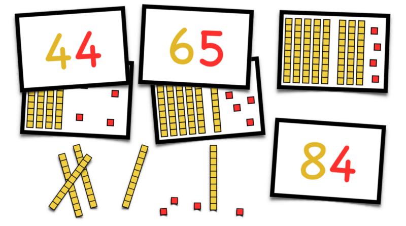 Cartes de numération < 100 autocorrectives